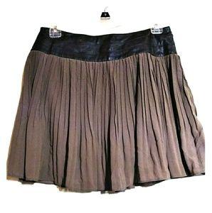 Very J faux leather pleated waist skirt